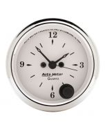 "2-1/16"" CLOCK, 12 HOUR, OLD-TYME WHITE"