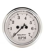"2-1/16"" IN-DASH TACHOMETER, 0-7,000 RPM, OLD-TYME WHITE"
