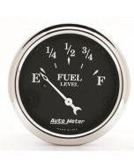 """2-1/16"""" FUEL LEVEL, 0-90 Ω, AIR-CORE, OLD TYME BLACK"""