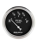 """2-1/16"""" FUEL LEVEL, 0-30 Ω, AIR-CORE, OLD TYME BLACK"""