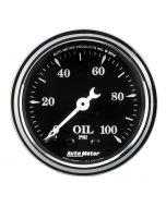 "2-1/16"" OIL PRESSURE, 0-100 PSI, MECHANICAL, OLD TYME BLACK"