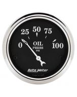"2-1/16"" OIL PRESSURE, 0-100 PSI, AIR-CORE, OLD TYME BLACK"