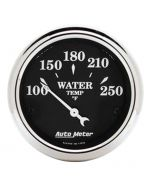 """2-1/16"""" WATER TEMPERATURE, 100-250 °F, AIR-CORE, OLD TYME BLACK"""