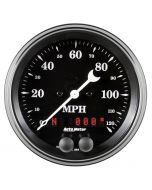 "3-3/8"" GPS SPEEDOMETER, 0-120 MPH, OLD TYME BLACK"