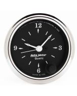 "2-1/16"" CLOCK, 12 HOUR, OLD TYME BLACK"