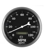 """5"""" SPEEDOMETER, 0-120 MPH, ELECTRIC W/ LCD ODO, OLD TYME BLACK"""