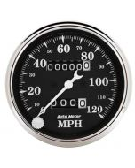 """3-1/8"""" SPEEDOMETER, 0-120 MPH, MECHANICAL, OLD TYME BLACK"""