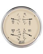 "5"" QUAD GAUGE, 100 PSI/100-250 °F/8-18V/240-33 Ω, ANTIQUE BEIGE"