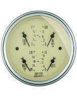 """3-3/8"""" QUAD GAUGE, 100 PSI/100-250 °F/8-18V/240-33 Ω, ANTIQUE BEIGE"""