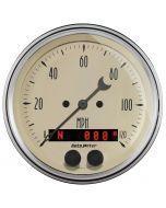 "3-3/8"" GPS SPEEDOMETER, 0-120 MPH, ANTIQUE BEIGE"