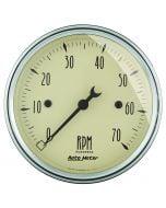 "3-1/8"" IN-DASH TACHOMETER, 0-7,000 RPM, ANTIQUE BEIGE"