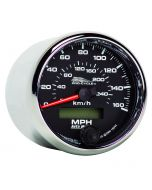 """2-5/8"""" SPEEDOMETER, 0-160 MPH, ELECTRIC, 0-260 KM/H, BLACK, PRO-CYCLE"""