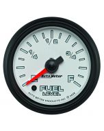 """2-1/16"""" FUEL LEVEL, PROGRAMMABLE 0-280 Ω, STEPPER MOTOR, WHITE/BLACK, PRO-CYCLE"""