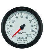 "3-3/8"" TACHOMETER, 0-10,000 RPM, WHITE/BLACK, PRO-CYCLE"