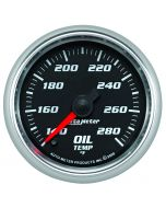 "2-1/16"" OIL TEMPERATURE, 140-280 °F, STEPPER MOTOR, BLACK/BRIGHT ANODIZED, PRO-CYCLE"