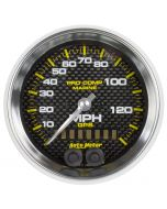 "3-3/8"" GPS SPEEDOMETER, 0-140 MPH, MARINE CARBON FIBER"