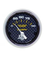 "2-1/16"" OIL PRESSURE, 0-100 PSI, AIR-CORE, AIR-CORE, MARINE CARBON FIBER"