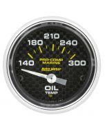 """2-1/16"""" OIL TEMPERATURE, 140-300 °F, AIR-CORE, MARINE CARBON FIBER"""
