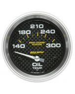 """2-5/8"""" OIL TEMPERATURE, 140-300 °F, AIR-CORE, MARINE CARBON FIBER"""