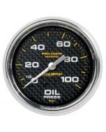 "2-5/8"" OIL PRESSURE, 0-100 PSI, MECHANICAL, MARINE CARBON FIBER"