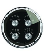 "5"" QUAD GAUGE, 100 PSI/100-250 °F/8-18V/0-90 Ω, PRESTIGE BLACK DIAMOND"