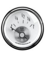 """2-1/16"""" FUEL LEVEL, 0-90 Ω, AIR-CORE, PRESTIGE PEARL"""