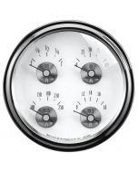"""5"""" QUAD GAUGE, 100 PSI/100-250 °F/8-18V/0-90 Ω, PRESTIGE PEARL"""
