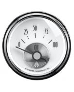 "2-1/16"" OIL PRESSURE, 0-100 PSI, AIR-CORE, PRESTIGE PEARL"
