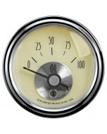 "2-1/16"" OIL PRESSURE, 0-100 PSI, AIR-CORE, PRESTIGE ANTIQUE IVORY"