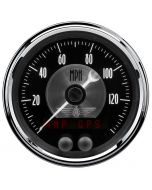 "3-3/8"" GPS SPEEDOMETER, 0-140 MPH, BLACK DIAMOND"