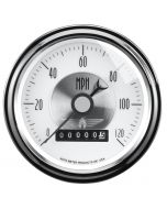 "3-3/8"" SPEEDOMETER, 0-120 MPH, ELECTRIC, W/ WHEEL ODO, PRESTIGE PEARL"