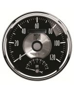 "5"" TACHOMETER/SPEEDOMETER COMBO, 8K RPM/120 MPH, ELECTRIC, PRESTIGE BLACK DIAMOND"