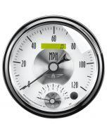 "5"" TACHOMETER/SPEEDOMETER COMBO, 8K RPM/120 MPH, ELECTRIC, PRESTIGE PEARL"