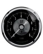 "3-3/8"" IN-DASH TACHOMETER, 0-8,000 RPM, PRESTIGE BLACK DIAMOND"