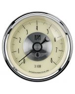 "3-3/8"" IN-DASH TACHOMETER, 0-8,000 RPM, PRESTIGE ANTIQUE IVORY"