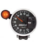 "5"" PEDESTAL TACHOMETER, 0-10,000 RPM, SHIFT LIGHT, BLACK, AUTO GAGE"