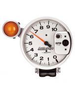 "5"" PEDESTAL TACHOMETER, 0-10,000 RPM, SHIFT LIGHT, SILVER, AUTO GAGE"