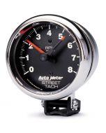 """3-3/4"""" PEDESTAL TACHOMETER, 0-8,000 RPM, TRADITIONAL CHROME"""