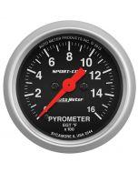 "2-1/16"" PYROMETER, 0-1600 °F, STEPPER MOTOR, SPORT-COMP"