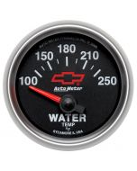 "2-1/16"" WATER TEMPERATURE, 100-250 °F, CHEVY RED BOWTIE"