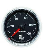 "2-1/16"" OIL PRESSURE, 0-100 PSI, MECHANICAL, GS"