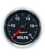 "2-1/16"" VOLTMETER, 8-18V, DIGITAL STEPPER MOTOR, GS"
