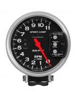 "5"" PEDESTAL PLAYBACK TACHOMETER, 0-11,000 RPM, SPORT-COMP"