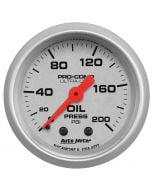 "2-1/16"" OIL PRESSURE, 0-200 PSI, MECHANICAL, ULTRA-LITE"