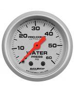 "2-1/16"" WATER PRESSURE, 0-60 PSI, MECHANICAL, ULTRA-LITE"