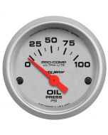 "2-1/16"" OIL PRESSURE, 0-100 PSI, AIR-CORE, ULTRA-LITE"