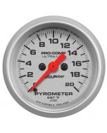 "2-1/16"" PYROMETER, 0-2000 °F, STEPPER MOTOR, ULTRA-LITE"