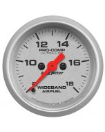 "2-1/16"" WIDEBAND AIR/FUEL RATIO, ANALOG, 8:1-18:1 AFR, ULTRA-LITE"