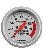 "2-1/16"" NITROUS PRESSURE, 0-1600 PSI, STEPPER MOTOR, ULTRA-LITE"