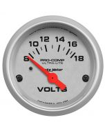 "2-1/16"" VOLTMETER, 8-18V, AIR-CORE, ULTRA-LITE"